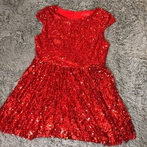 New Year's Red sequin dress